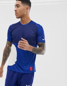 Темно-синяя футболка Nike Running Tokyo pack miler - Серый