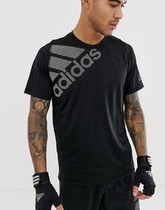 Черная футболка с логотипом Adidas Training - Черный