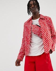 Красная спортивная куртка с принтом ASOS DESIGN - Красный