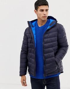 Темно-синяя дутая куртка с капюшоном Esprit - Темно-синий