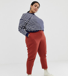Льняные брюки-сигареты ASOS DESIGN Curve - Красный