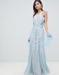 Кружевное платье макси Forever Unique - Синий