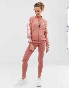 Леггинсы с тремя полосками Adidas Originals - Розовый