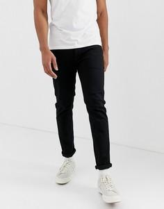 Черные выбеленные узкие джинсы Jack & Jones - Черный