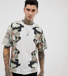 Белая футболка с принтом Heart & Dagger - Белый