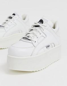 Белые массивные кроссовки на платформе Buffalo - Белый