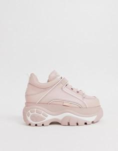 Массивные розовые кроссовки на платформе Buffalo - Розовый