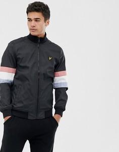 Черная спортивная куртка в стиле колор блок Lyle & Scott - Черный