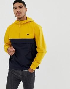 Желтая куртка на молнии с капюшоном Fred Perry - Желтый