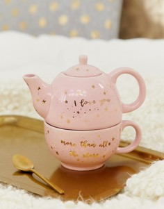 Заварочный чайник и кружка со звездами и надписью mum love you Sass & Belle - Мульти