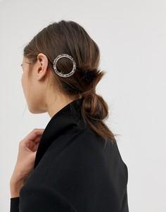 Круглая розовая заколка для волос из резины с застежкой-клипсой ASOS DESIGN - Розовый