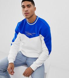 Белый свитер с круглым вырезом Reebok Classic vector - Белый