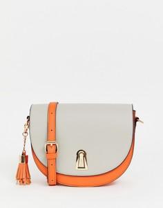 Миниатюрная сумка в стиле колор блок Dune - Серый