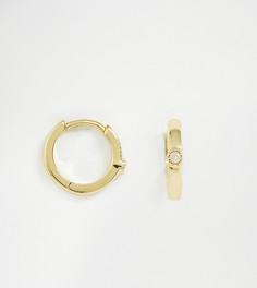 Позолоченная серьга-кольцо Galleria Armadoro - Золотой