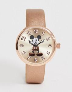 Женские часы цвета розового золота Disney - Бежевый