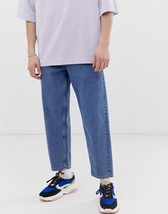 Зауженные джинсы из денима плотностью 14 унц ASOS WHITE - Синий