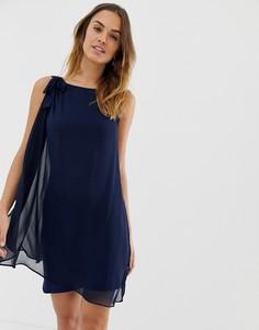 Свободное платье с бантиком Naf Naf - Розовый