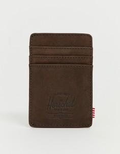 Темно-коричневый кожаный кошелек для карт с RFID-меткой Herschel Supply Co Raven - Коричневый