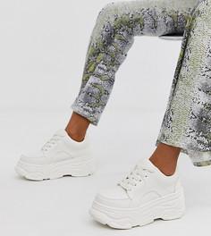 Белые кроссовки на толстой подошве New Look - Белый