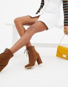 Коричневые ботинки на шнуровке Pimkie - Коричневый