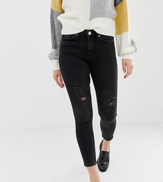 Черные зауженные джинсы Miss Selfridge Petite Lizzie - Черный