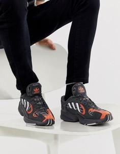 Кроссовки в клетку тартан adidas Originals Yung-1 EF3967 - Красный