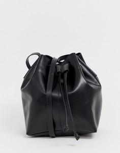 Кожаная сумка-мешочек ASOS DESIGN - Синий