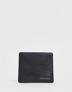 Черная кожаная кредитница с логотипом Diesel - Черный