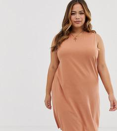 Платье-майка ASOS DESIGN Curve - Коричневый