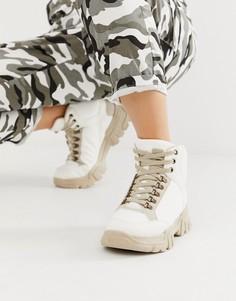 Бежевые массивные кроссовки-ботинки ASOS DESIGN Darkness - Кремовый