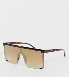 Солнцезащитные очки в черепаховой оправе с отделкой South Beach - Коричневый