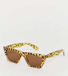 Солнцезащитные очки в черепаховой угловатой оправе South Beach - Коричневый