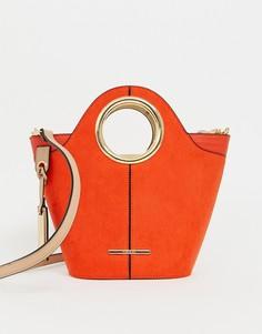 Оранжевая сумка-тоут с круглыми ручками River Island - Красный