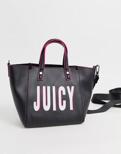 Маленькая сумка-тоут с логотипом Juicy Couture - Черный
