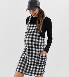 Черный сарафан в клетку New Look Maternity - Черный
