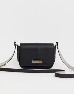 Черная сумка с клапаном с золотистой пряжкой River Island - Черный
