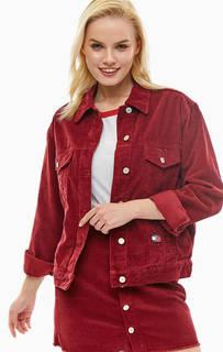 Вельветовая куртка с вышивкой на спине Crest Tommy Jeans