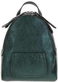 Маленький кожаный рюкзак зеленого цвета Gianni Chiarini
