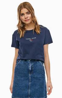 Хлопковая футболка свободного кроя с вышивкой Tommy Jeans