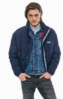Синяя куртка с логотипом бренда Tommy Jeans