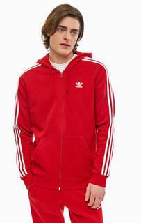 Красная толстовка на молнии Adidas Originals