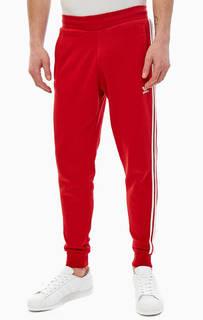 Красные брюки джоггеры из хлопка Adidas Originals