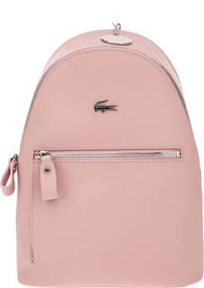 Розовый рюкзак с логотипом бренда Lacoste