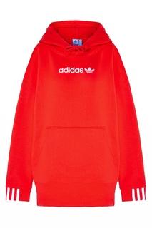 Худи оверсайз с полосатыми манжетами Adidas