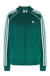 Зеленая олимпийка с логотипом Adidas
