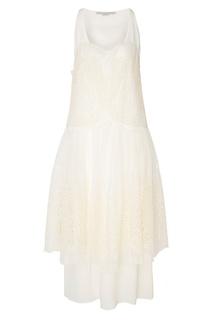 Кремово-белое шелковое платье Brianna Stella Mc Cartney