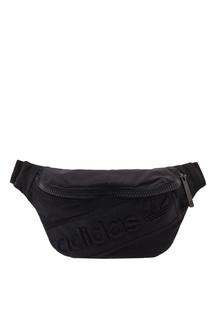 Черная поясная сумка с логотипом в тон Adidas