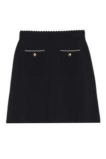 Черная юбка с эластичным поясом Sandro