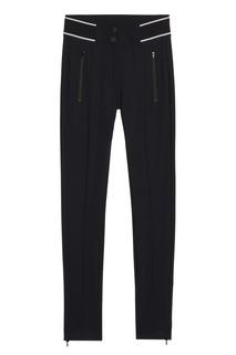 Черные брюки с контрастной отделкой Sandro