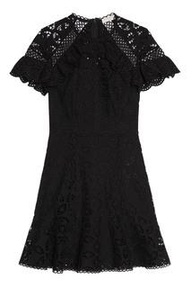 Черное кружевное платье Sandro